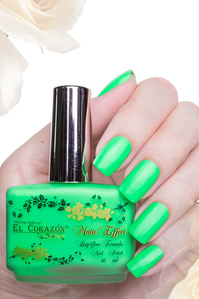 El Corazon Nail Polish Matte Effect Neon No.145 16 ml
