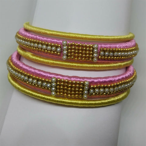 Customized Silk Thread Bangle - 1