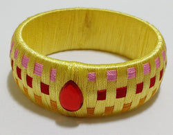 Customized Silk Thread Bangle - 3