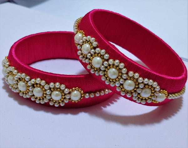 Customized Silk Thread Bangle - 4