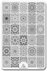 Lina Stamping Plate Mad For Mandalas 01