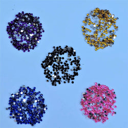 1.5mm 1000 Pcs Nail Art 3D DIY Glitter Rhinestones For UV Gel Acrylic Decoration