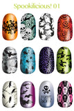 Lina Stamping Plate Spooklicious 1
