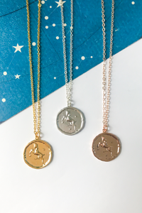 Aries vintage medallion necklace