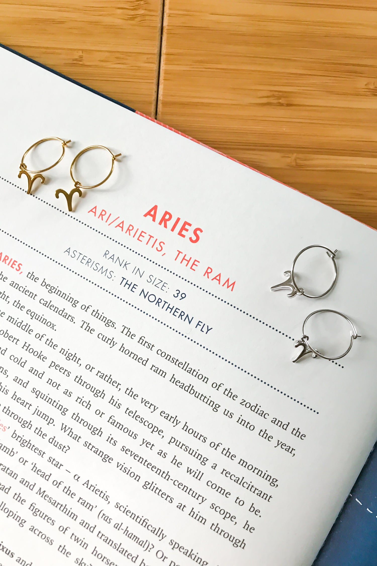 Aries mini hoop earrings