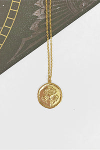 Cancer vintage coin necklace