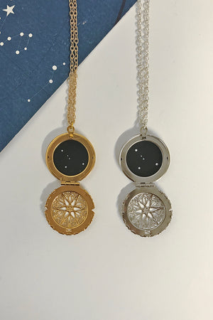 Cancer constellation locket