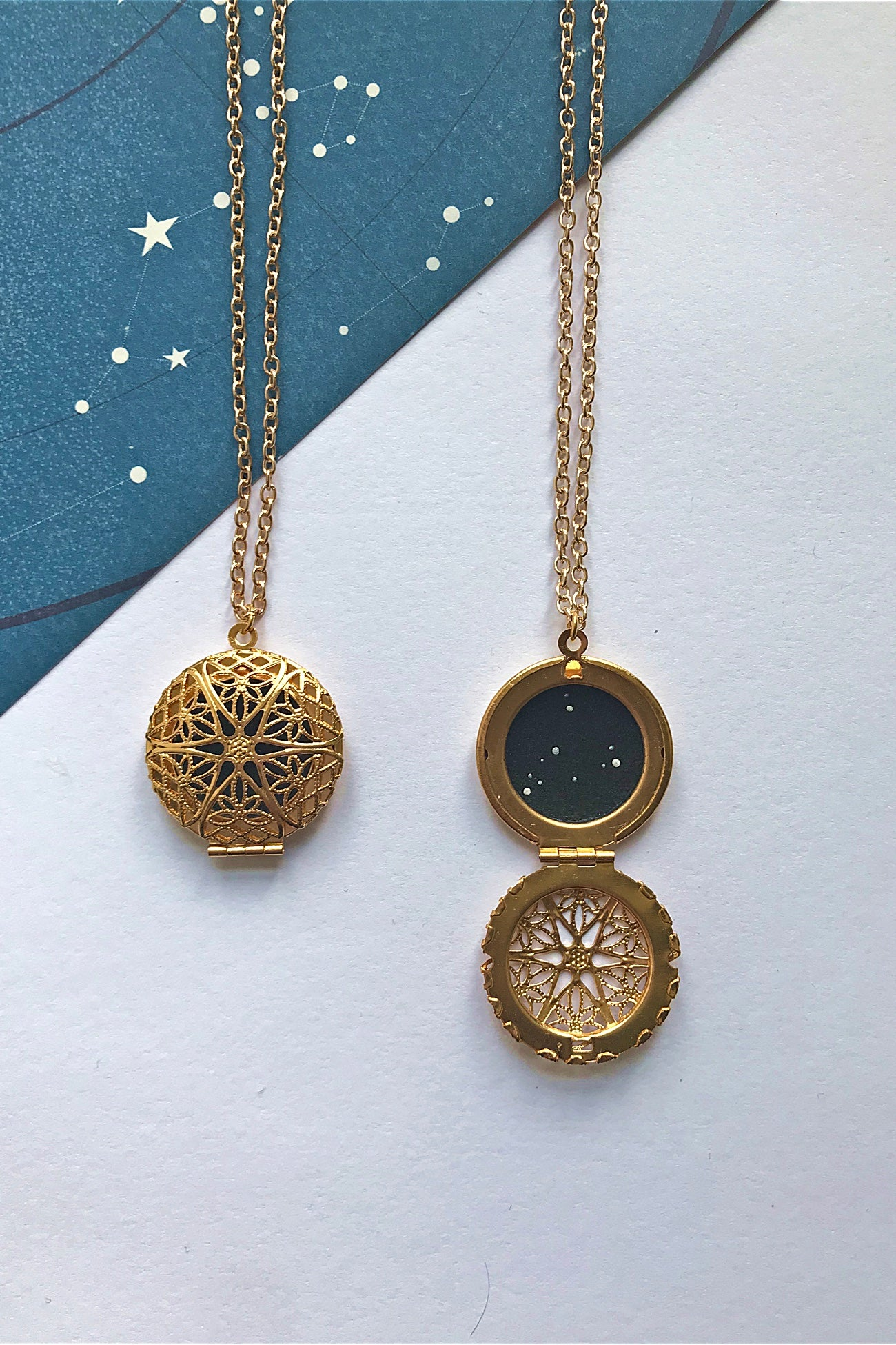 Capricorn constellation locket