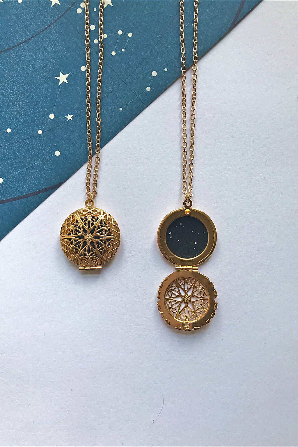 Gemini constellation locket