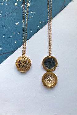 Sagittarius constellation locket (gold)