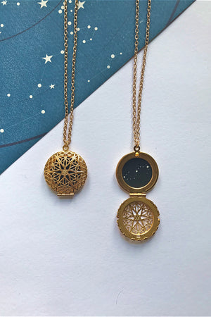 Scorpio constellation locket