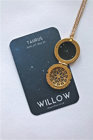 Taurus constellation locket