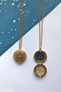 Virgo constellation locket (gold)