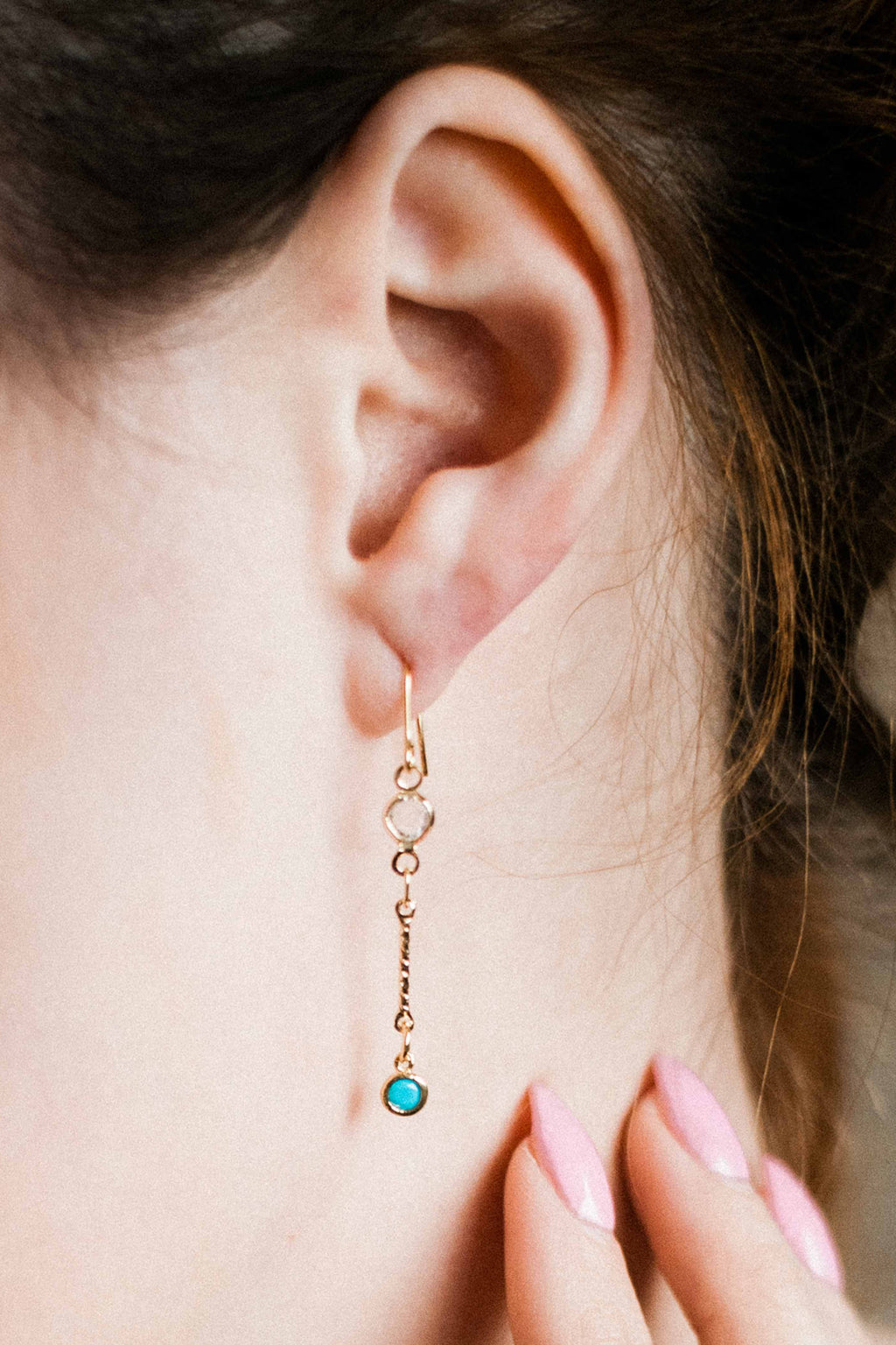 Birthstone crystal drop earrings