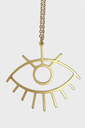 Supersized evil eye necklace