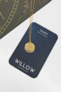 Gemini vintage coin necklace