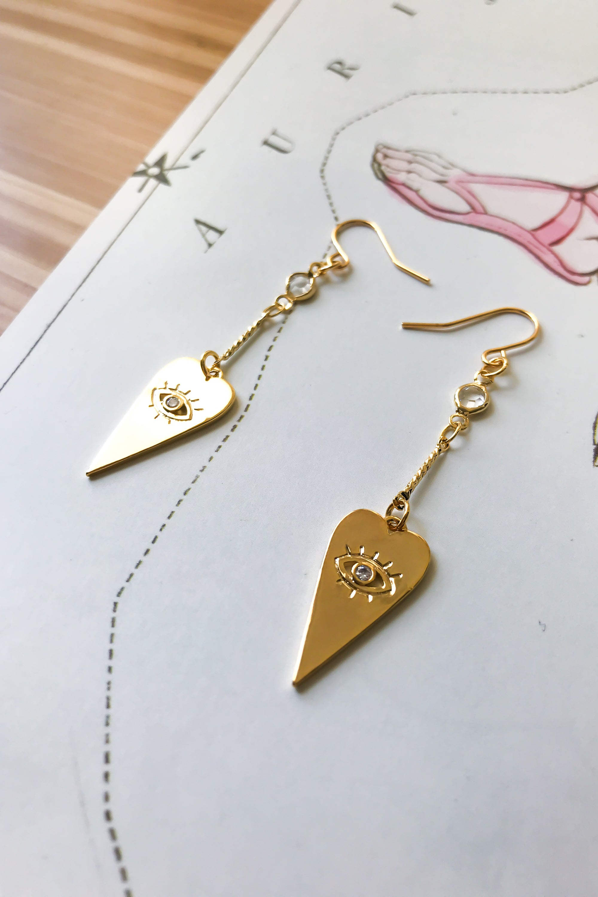 Love + Protection drop earrings