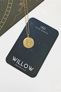 Leo vintage coin necklace
