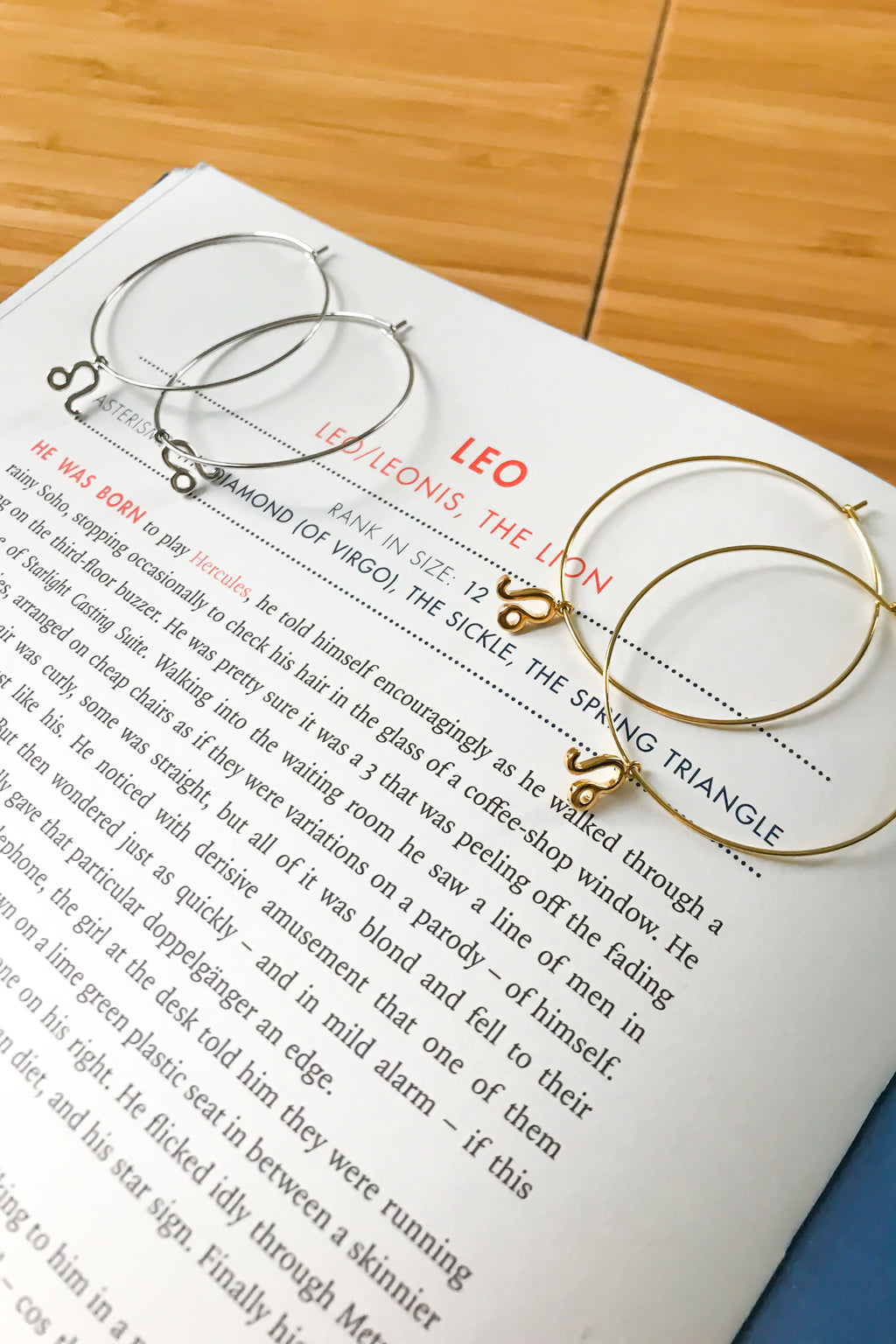 Leo mega hoop earrings