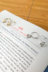 Leo mini hoop earrings