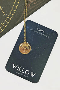 Libra vintage coin necklace
