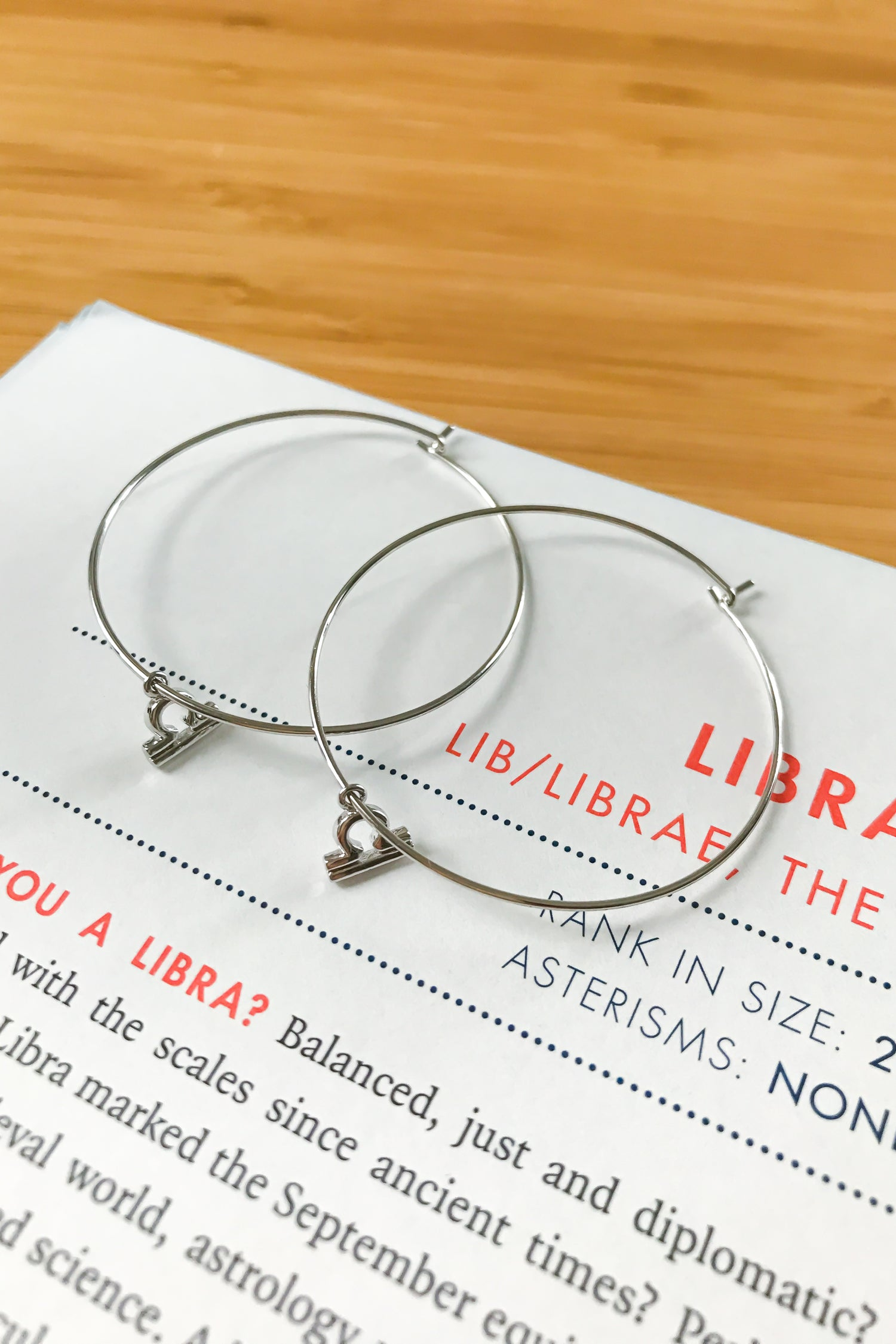 Libra mega hoop earrings