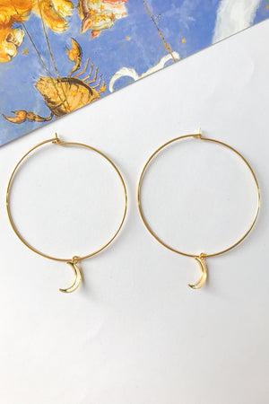 Moon mega hoop earrings