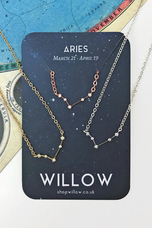 Aries mini constellation necklace