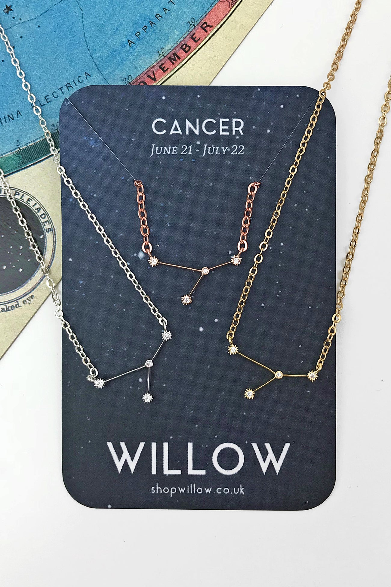 Cancer mini constellation necklace