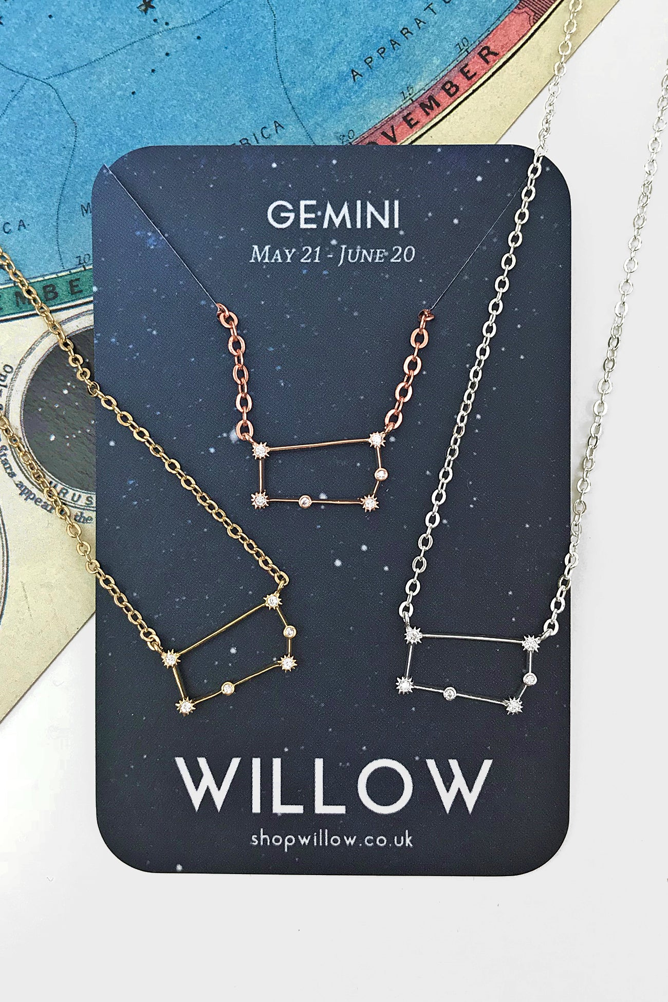 Gemini mini constellation necklace