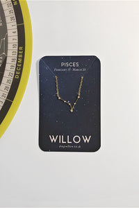 Pisces mini constellation necklace