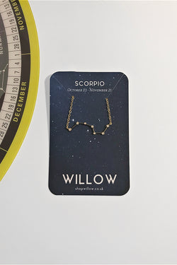 Scorpio mini constellation necklace