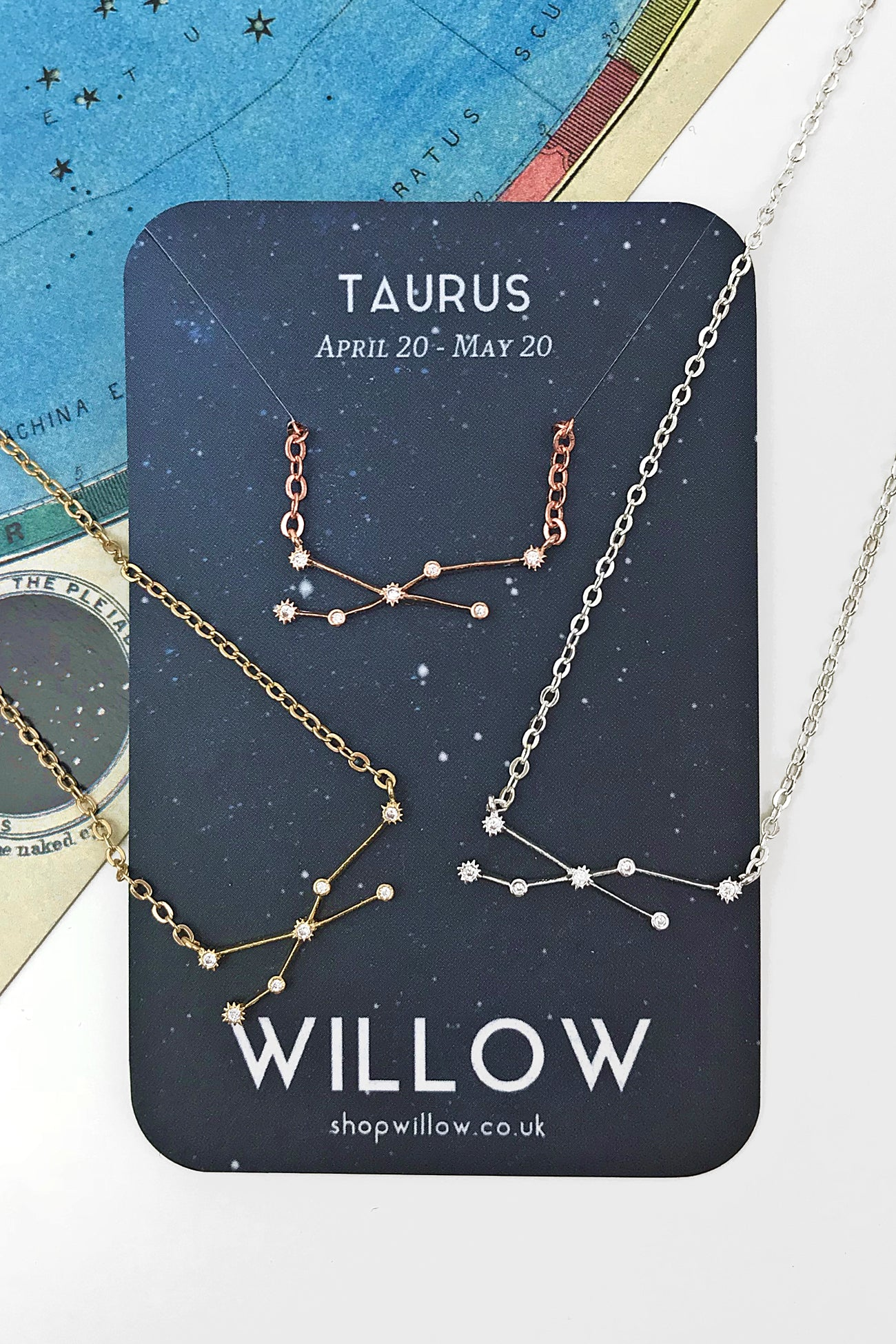 Taurus mini constellation necklace