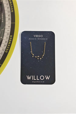 Virgo mini constellation necklace