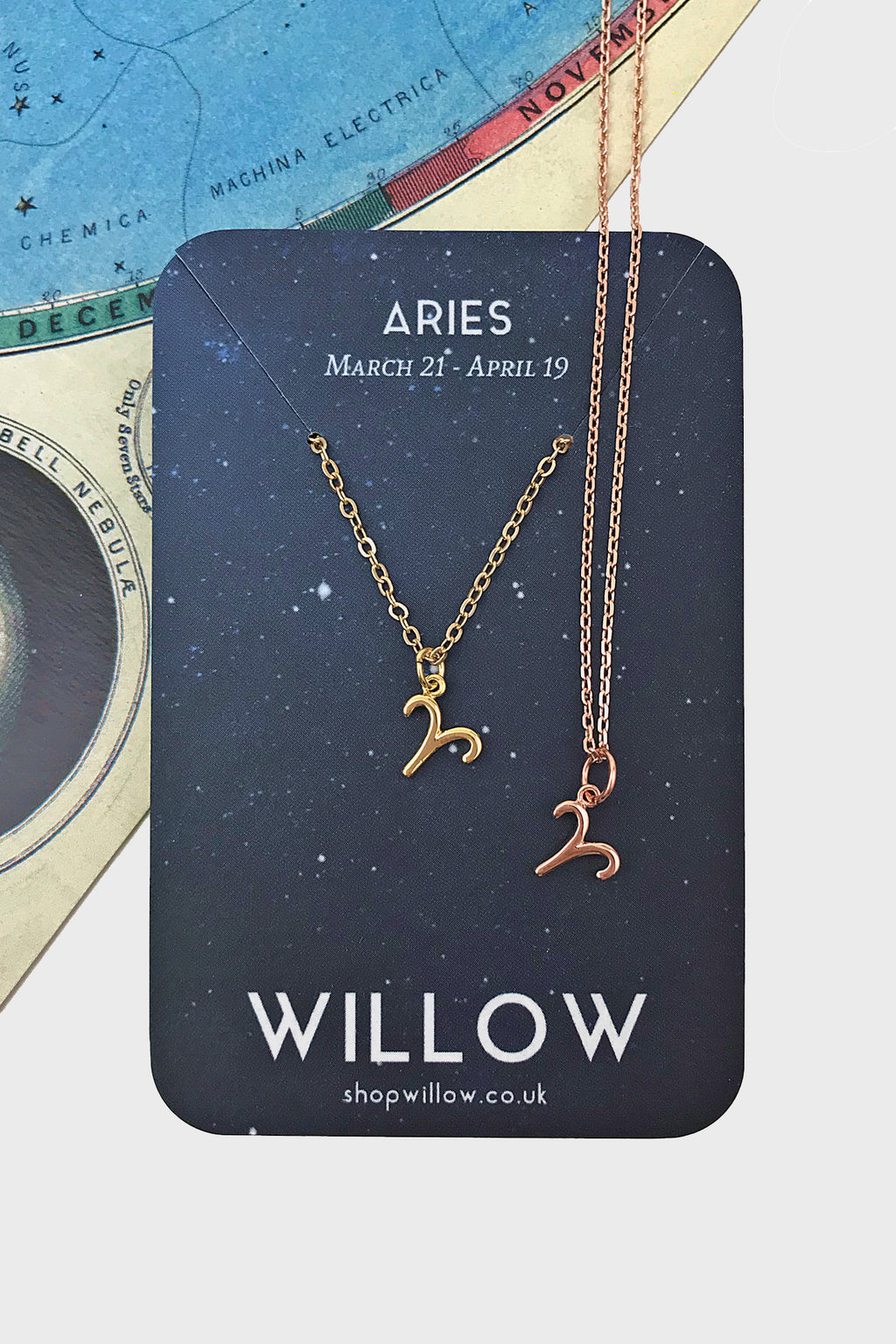 Aries mini symbol necklace