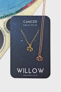 Cancer mini symbol necklace