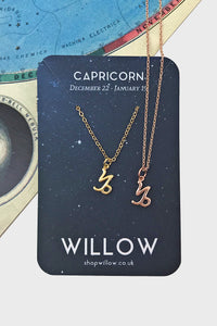 Capricorn mini symbol necklace