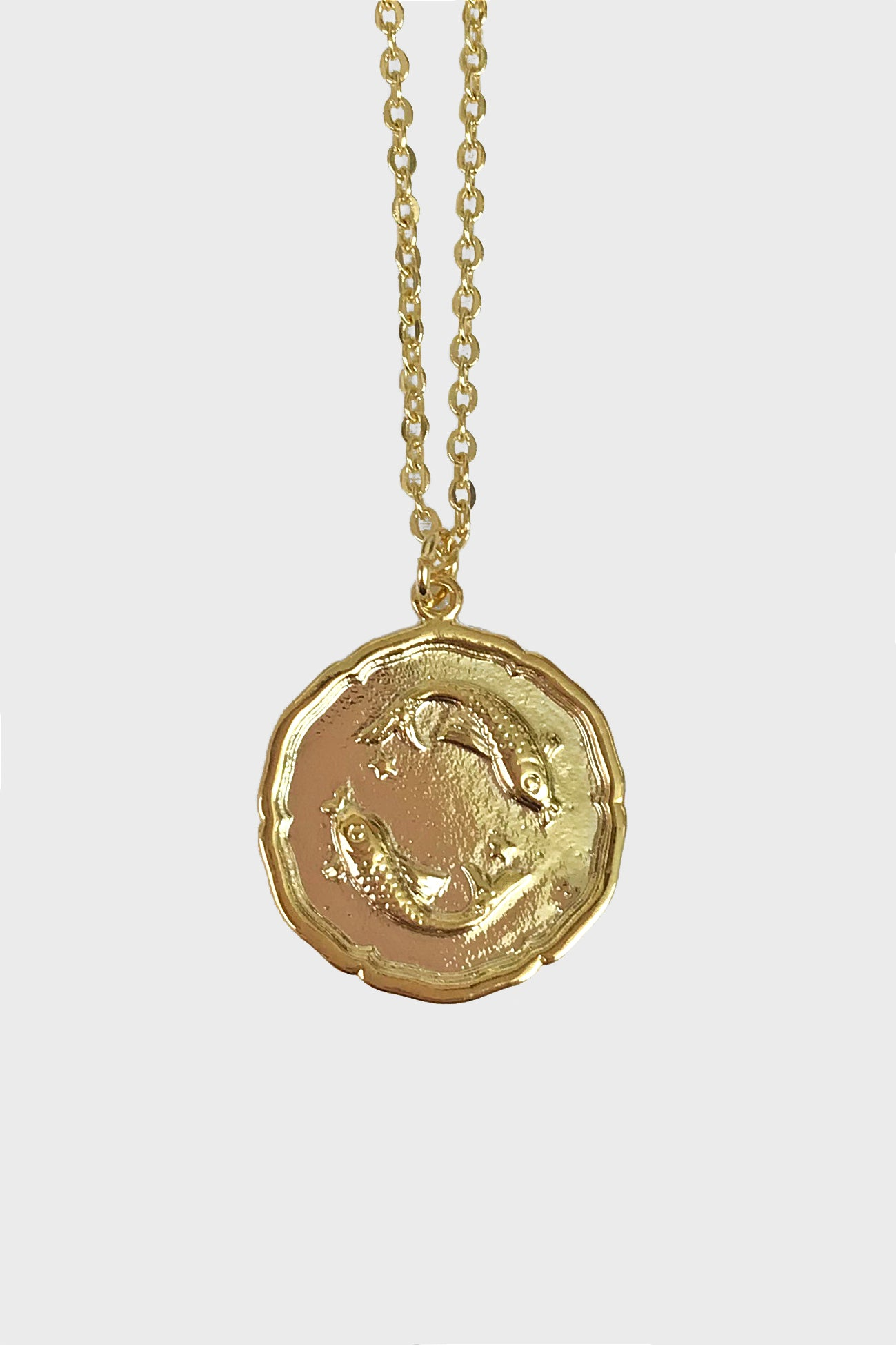 Pisces vintage medallion necklace