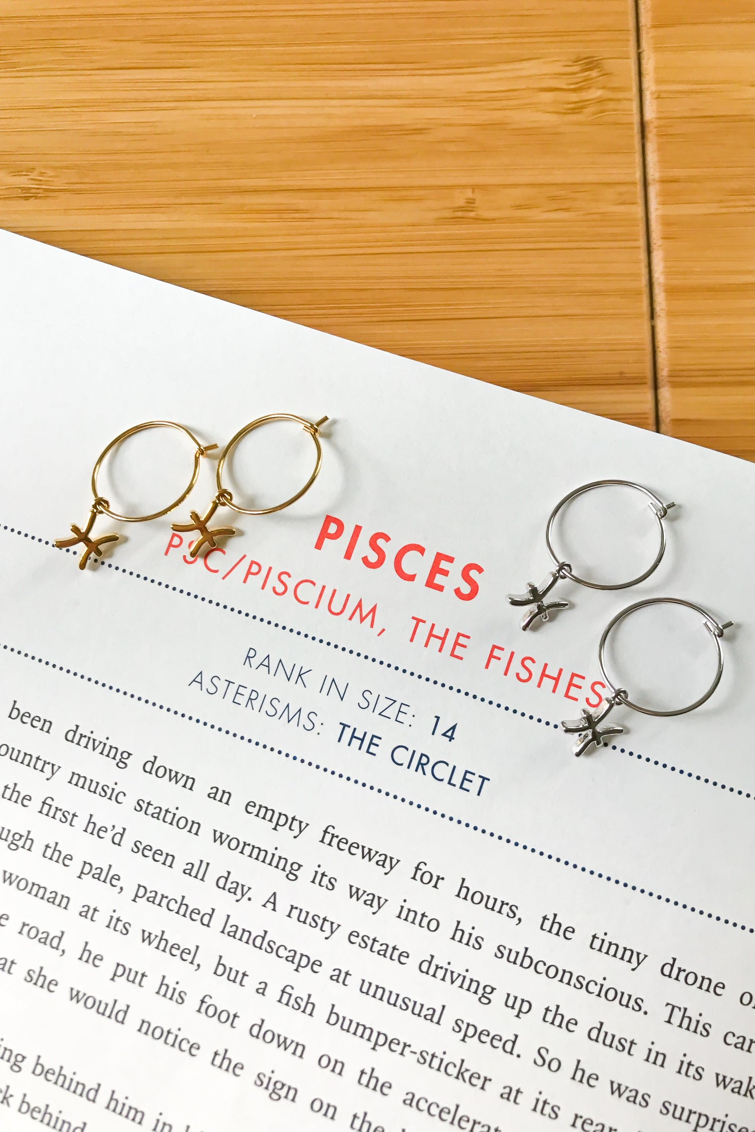 Pisces mini hoop earrings