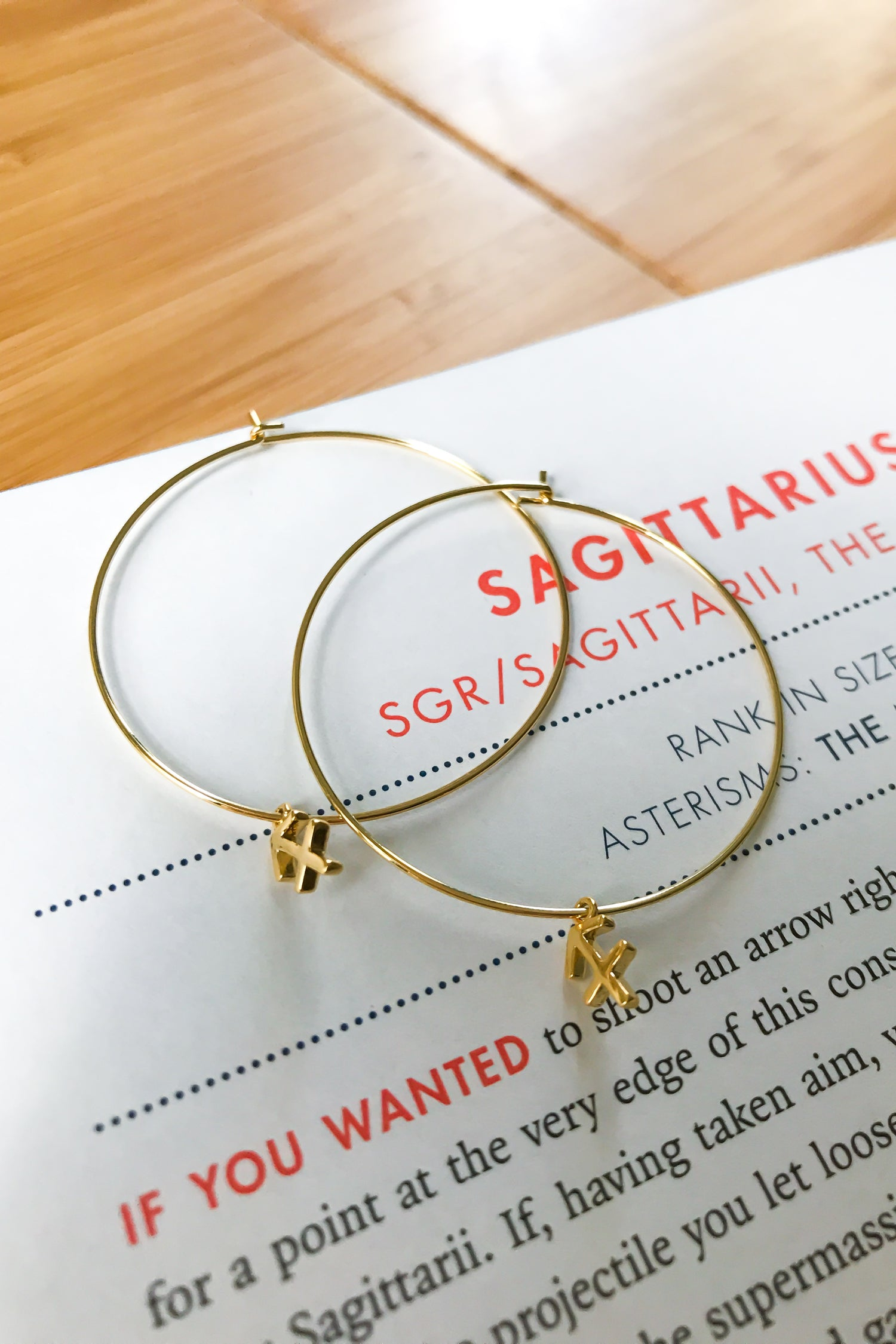 Sagittarius mega hoop earrings