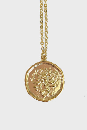 Scorpio vintage coin necklace