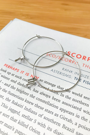 Scorpio mega hoop earrings