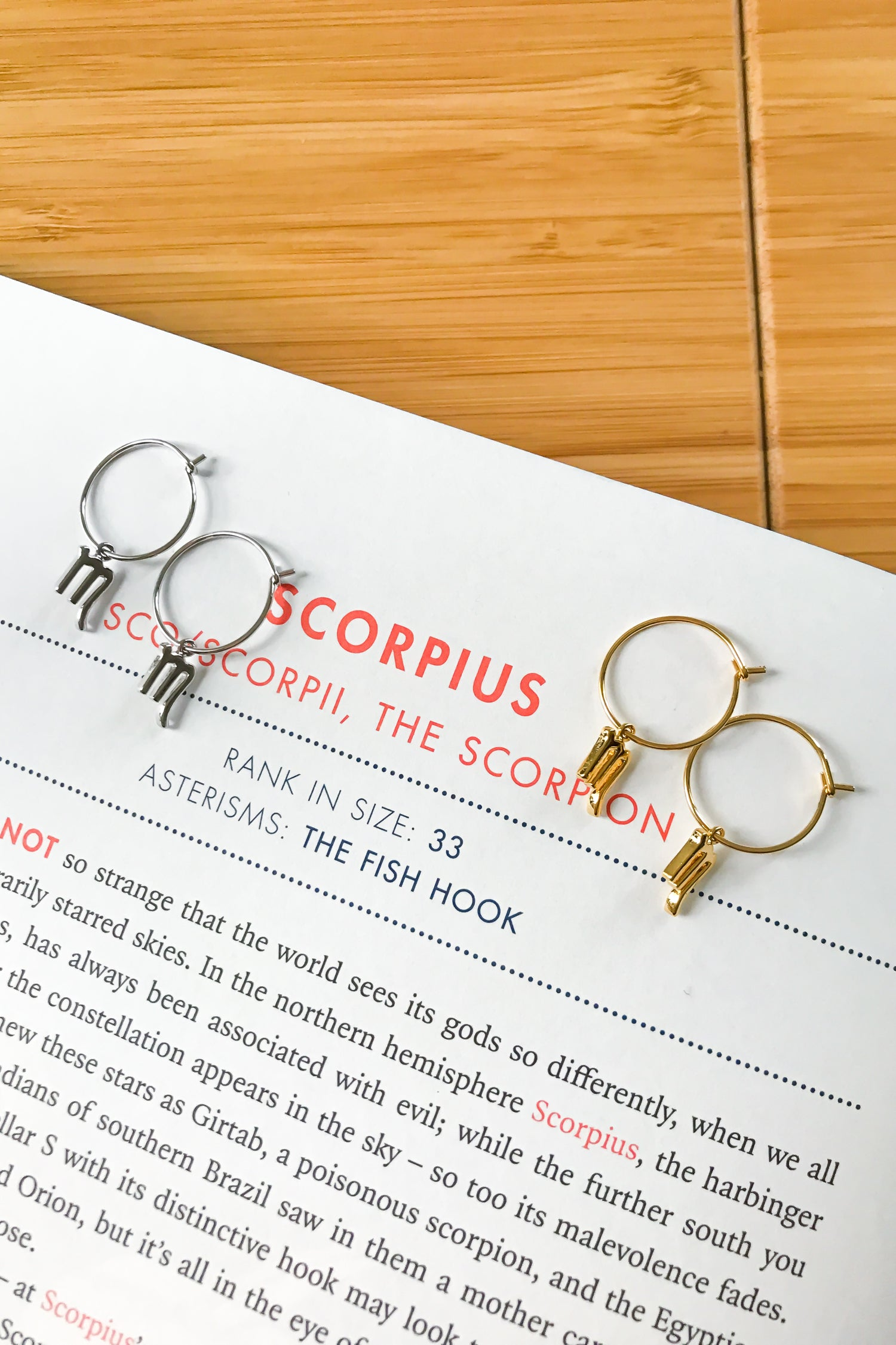 Scorpio mini hoop earrings