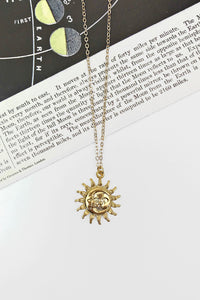 Sun and moon ray necklace