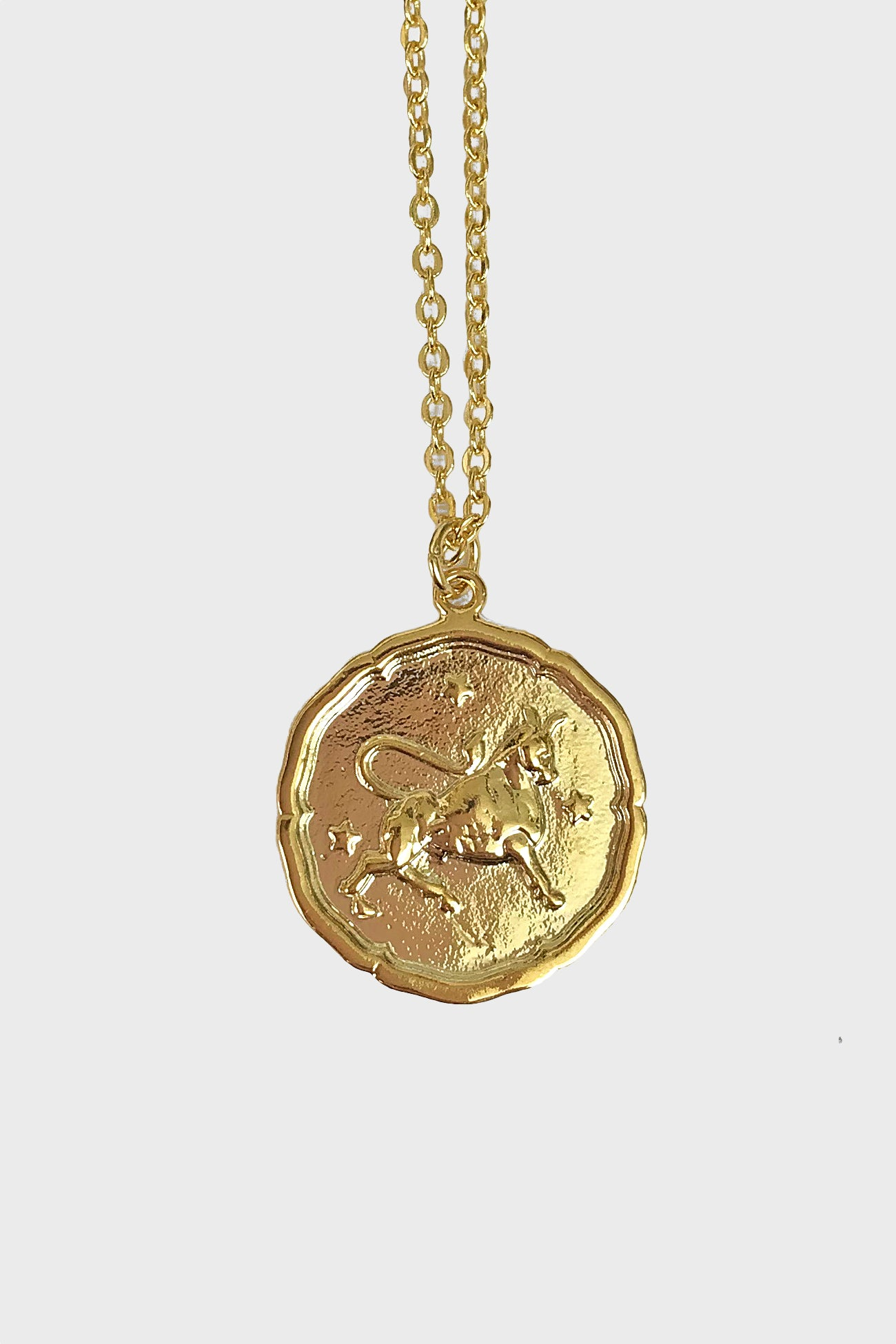 Taurus vintage medallion necklace