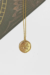 Taurus vintage coin necklace