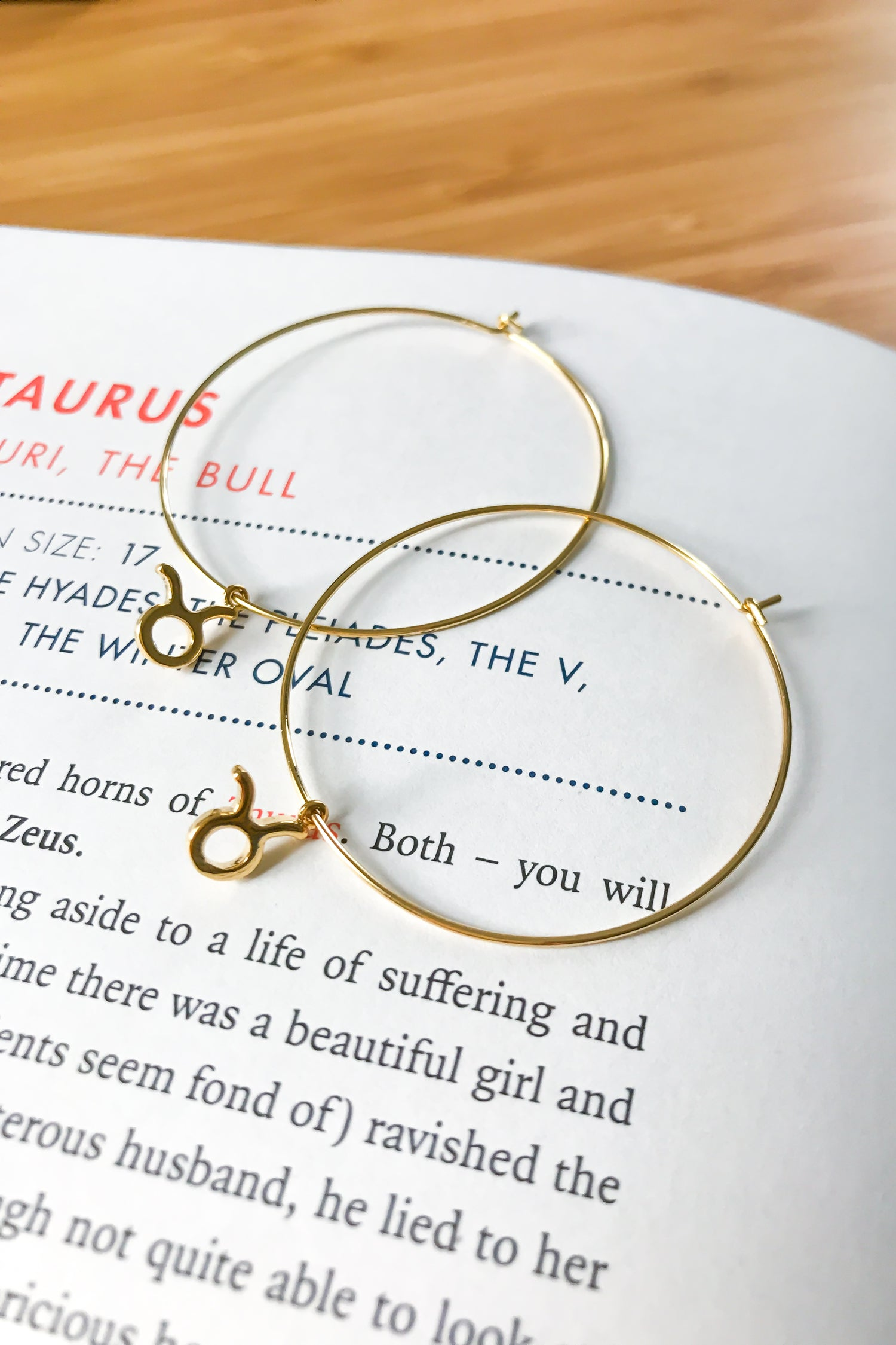Taurus mega hoop earrings