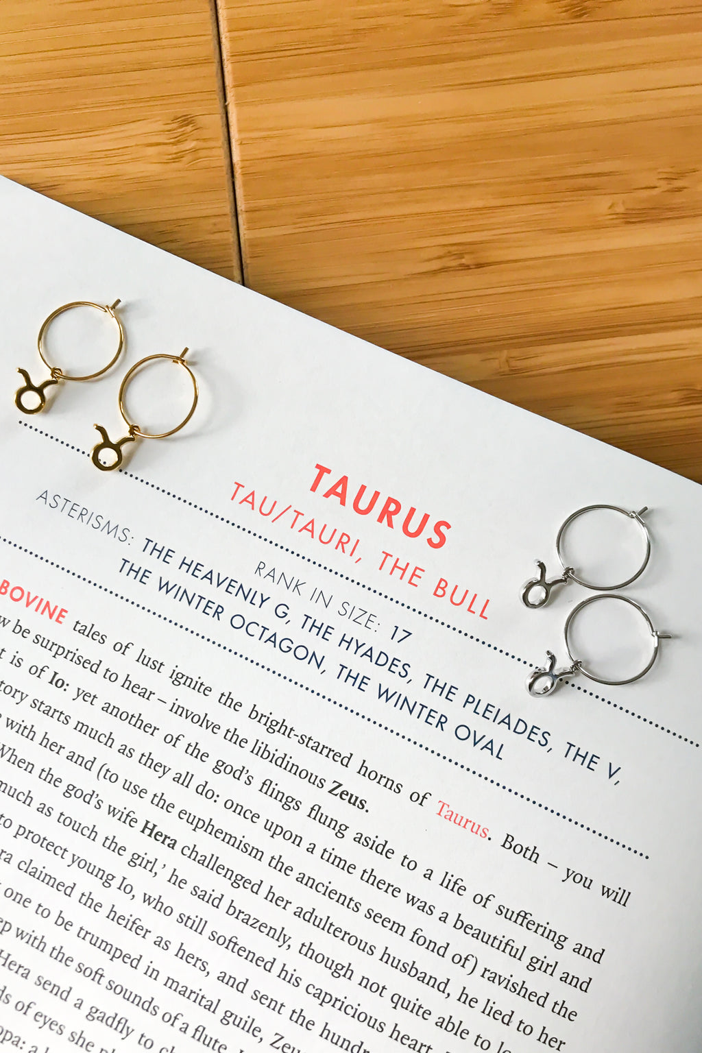 Taurus mini hoop earrings