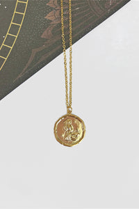 Virgo vintage coin necklace
