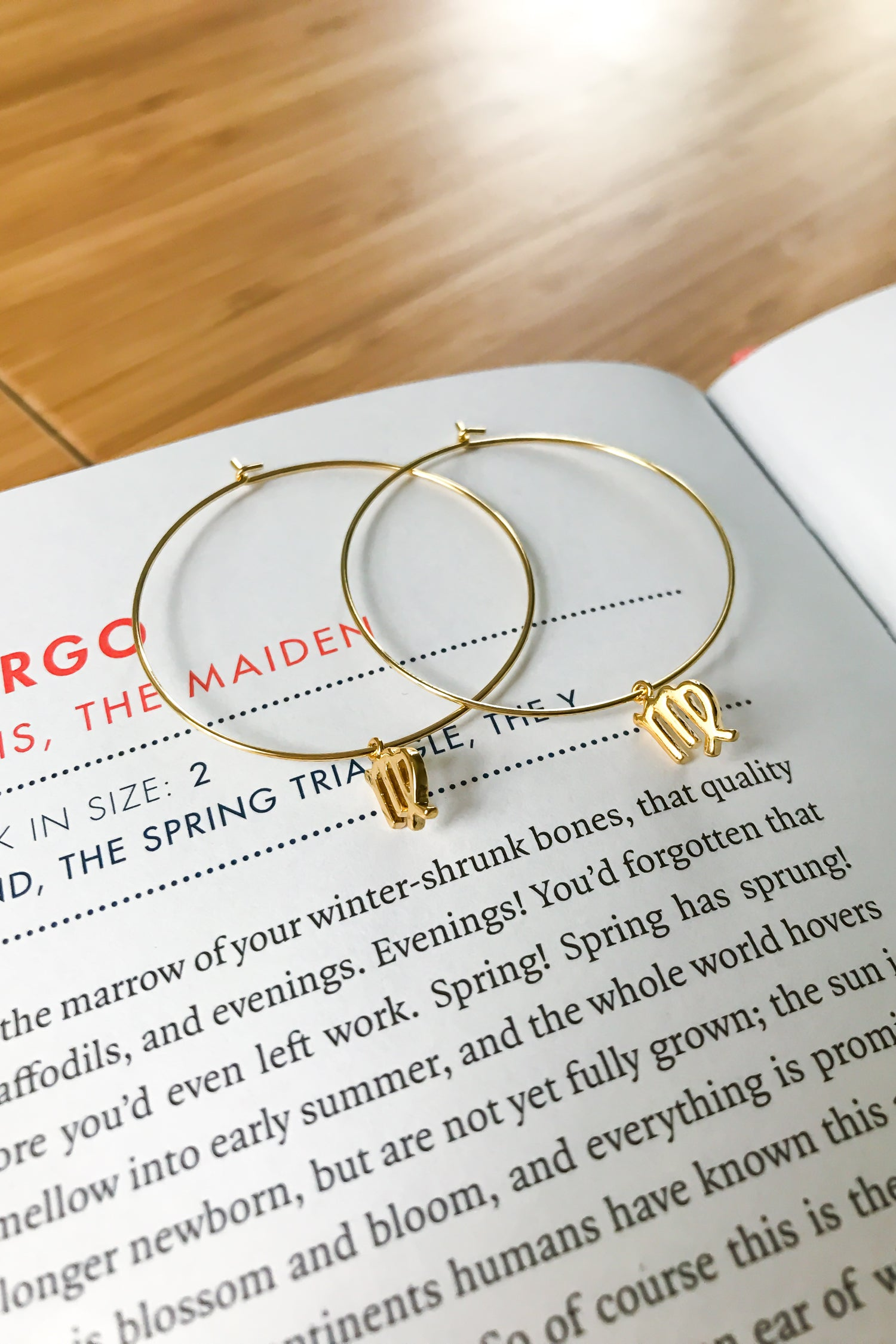 Virgo mega hoop earrings